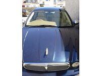Jaguar x-type 2.2D dark blue, cream leather seats, 11 months m.o.t. would consider swap Honda crv!