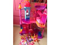 Barbie and the secret door castle and dolls