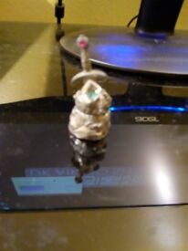 Sword in the stone pewter and crystal collectable