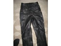 Leather trousers - ladies - size 10