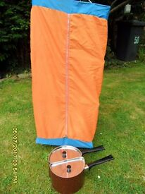 CAMPING PANS TWIN AND HANGING LARDER 3 SHELVES