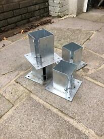 Galvanised 100x100mm Post Shoes