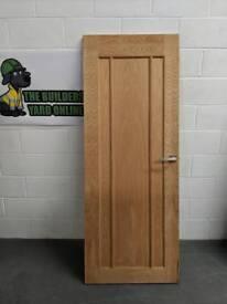 1 x Internal Solid Wood Door + Handle & Hinges