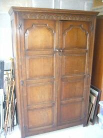 1930s wardrobe and matching headboard and tailboard for bed