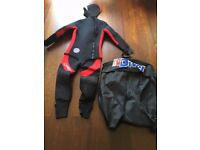 Men's Northern Diver Ω Omega 2-piece Semi-Dry Suit (Excellent Condition, Only used once) RPR £125