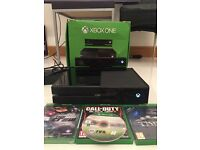 Xbox One 500gb with Kinect 2, 1 controller, Black Ops 3,The Crew(sealed), Thief and Fifa 15(no case)
