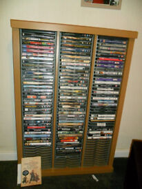 DVD STORAGE CABINET WITH DVDS