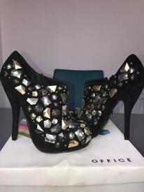 Suede Office heels.