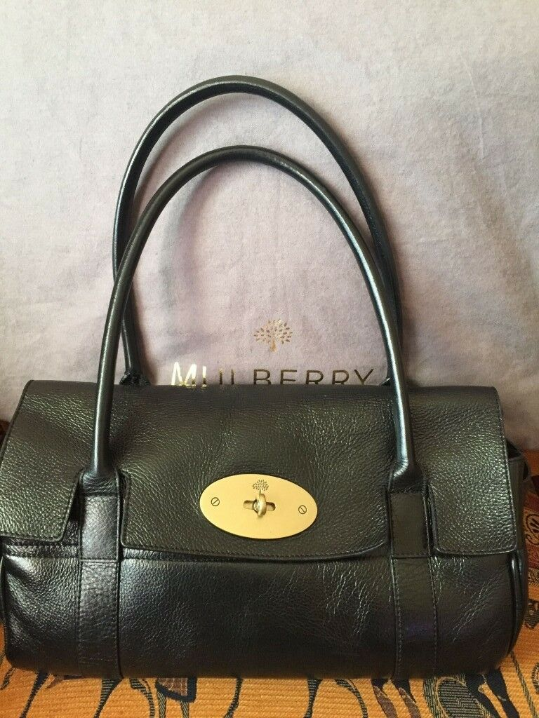 f98601ad73 Genuine Mulberry Black Small Bayswater handbag excellent condition with dust  bag.