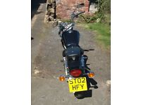Suzuki GZ125 Marauder motorbike, 02 plate,v. low mileage(3500),11 months MOT 2 advisories on brakes