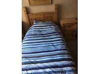 Pine Corona style single bed