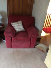 1 x Armchair and 1 x Recliner for sale. Marks & Spencer Colour Fast fabric. Used but good condition