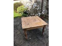 Farmhouse (antique) pine kitchen table