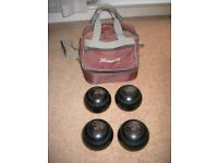 Bowls - Henselite Classic Deluxe, Size 5 - Heavy, including bag