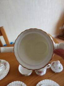 Royal Albert Moss Rose tea set and coffee set
