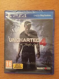PS4 Uncharted 4 - a Thief's End game BRAND NEW UNOPENED!