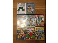 Kids DVDs - hungry caterpillar, where the wild things are etc.