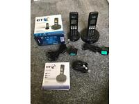 BT digital cordless twin phones with answer machine