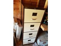 Light brown filing cabinet
