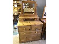 100% solid pine dressing chest