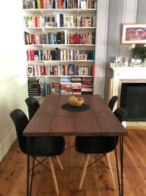 kitchen/dining table handmade rustic industrial