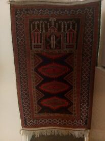 Baluchi Prayer Rug, 5' x 3', semi-antique.