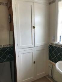 Airing cupboard doors and shelves