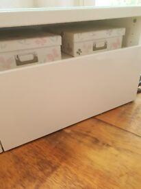 White Ikea TV cabinet for sale.