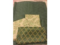 Green curtain fabric