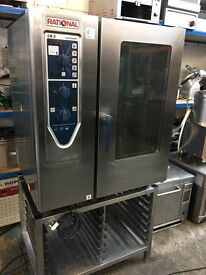 Rational CM Combi-Dampfer 10 Grid Gas Oven + Stand