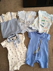 bundle of baby boy summer clothes 0-3 months all in excellent condition most only worn once!!