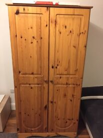 Double pine wardrobe (Real wood)