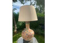 Large Butterfly Ceramic Lamp and Lampshade