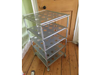 1. Ikea TV ,HiFi Metal Trolley on Wheels