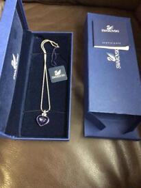 Swarovski crystal & tanzanite necklace