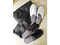 Slippers large grey, small white