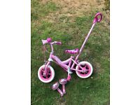 Unicorn bike deachable steering handle fab condition and wheels do not need pumping
