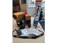 NIKON D3400 DSLR Camera - AF-P 18-55mm Lens - Tripod - 32 Gb memory card