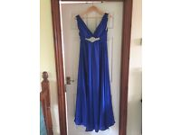 Royal Blue Oriental Pearl Prom Dress - Never Worn, UK Size 14