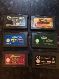 Nintendo game boy advanced games bundle retro