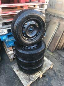 "07-14 Citroen dispatch Peugeot expert fiat scudo 15"" steel wheels & nearly new 205/70/15C Tyres x4"