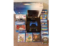 PS4 (SONY Playstation 4) Console Bundle (4 official controllers, 14 games & headphones)