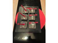 18 Pieces Set - Amuse-Bouche glasses (verrines) with Porcelain Dishes and Spoons – Brand New