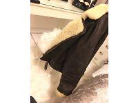 Vintage genuine Leather/Sheepskin Coat Women's/unisex
