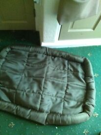 large dog cage with large waterproof mat to fit inside