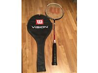 Badminton raquet, Wilson 'Vision' good condition