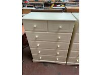 Large cream chest of drawers