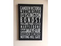 Wall Hanging: London Place Names