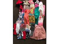 Mixed bundle of girls clothes aged 8 to 9