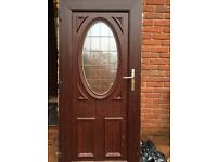 Dual coloured double glazing door and window. Rosewood brown outside and white on inside